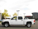 2008 Summit White Chevrolet Silverado 1500 Work Truck Crew Cab 4x4 #19157928
