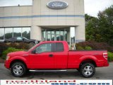 2010 Vermillion Red Ford F150 STX SuperCab 4x4 #19182821