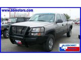 2003 Light Pewter Metallic Chevrolet Silverado 1500 HD Crew Cab 4x4 #19221425