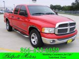 2002 Flame Red Dodge Ram 1500 SLT Quad Cab #19217471