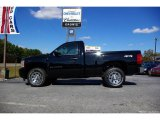 2008 Black Chevrolet Silverado 1500 LS Regular Cab 4x4 #19276250