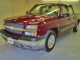 2005 Sport Red Metallic Chevrolet Silverado 1500 LS Crew Cab #19282029