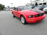 2007 Torch Red Ford Mustang V6 Deluxe Convertible #19276316