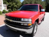 2001 Victory Red Chevrolet Silverado 1500 LT Extended Cab 4x4 #19363155