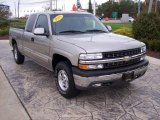 1999 Light Pewter Metallic Chevrolet Silverado 1500 LS Extended Cab 4x4 #19372758