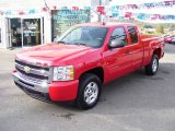 2009 Victory Red Chevrolet Silverado 1500 LT Extended Cab 4x4 #19355773