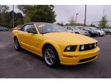 2005 Screaming Yellow Ford Mustang GT Deluxe Convertible #19367352