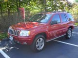 2002 Inferno Red Tinted Pearlcoat Jeep Grand Cherokee Overland 4x4 #19371215