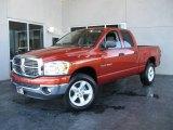 2007 Sunburst Orange Pearl Dodge Ram 1500 Big Horn Edition Quad Cab 4x4 #19355036