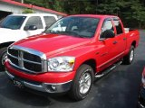 2007 Flame Red Dodge Ram 1500 SLT Quad Cab #19371178