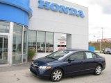 2007 Royal Blue Pearl Honda Civic LX Sedan #19360727