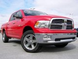 2009 Flame Red Dodge Ram 1500 Big Horn Edition Crew Cab 4x4 #19354436