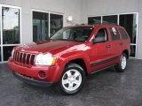 2006 Inferno Red Crystal Pearl Jeep Grand Cherokee Laredo #19355046