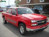 2006 Victory Red Chevrolet Silverado 1500 LT Extended Cab 4x4 #19533307