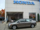 2007 Galaxy Gray Metallic Honda Civic EX Sedan #19527304