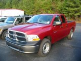 2010 Inferno Red Crystal Pearl Dodge Ram 1500 ST Quad Cab #19651635