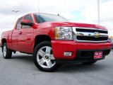 2007 Victory Red Chevrolet Silverado 1500 LTZ Extended Cab 4x4 #19692523