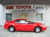 2000 Performance Red Ford Mustang V6 Coupe #19693543