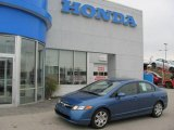 2007 Atomic Blue Metallic Honda Civic LX Sedan #19756334