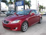 2008 Matador Red Mica Lexus IS 250 #19748637
