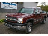 2003 Dark Carmine Red Metallic Chevrolet Silverado 2500HD LS Extended Cab 4x4 #19827024