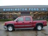 2004 Sport Red Metallic Chevrolet Silverado 1500 Z71 Crew Cab 4x4 #19829563