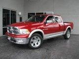 2010 Inferno Red Crystal Pearl Dodge Ram 1500 Laramie Crew Cab 4x4 #19818428