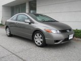 2006 Galaxy Gray Metallic Honda Civic LX Coupe #19829699