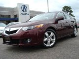 2009 Basque Red Pearl Acura TSX Sedan #19818045