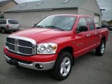 2007 Flame Red Dodge Ram 1500 SLT Quad Cab 4x4 #19820306