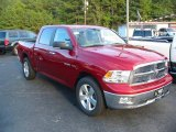 2009 Inferno Red Crystal Pearl Dodge Ram 1500 Big Horn Edition Crew Cab #19834293
