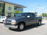 2001 Medium Charcoal Gray Metallic Chevrolet Silverado 1500 LS Extended Cab #19886976
