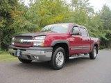 2004 Sport Red Metallic Chevrolet Silverado 1500 Z71 Crew Cab 4x4 #19891303