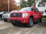 2010 Vermillion Red Ford F150 FX4 SuperCab 4x4 #19893246