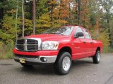 2007 Flame Red Dodge Ram 1500 Big Horn Edition Quad Cab 4x4 #19891306