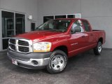 2006 Inferno Red Crystal Pearl Dodge Ram 1500 ST Quad Cab #19938071