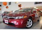 2007 Tango Red Pearl Honda Civic EX Sedan #19944219