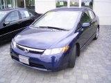 2007 Royal Blue Pearl Honda Civic LX Sedan #19953528