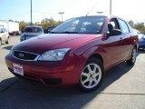 2005 Sangria Red Metallic Ford Focus ZX4 SE Sedan #20007058