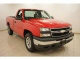 2006 Victory Red Chevrolet Silverado 1500 Work Truck Regular Cab 4x4 #20082069