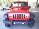 2010 Flame Red Jeep Wrangler Sport 4x4 #20083214