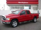 2005 Flame Red Dodge Ram 1500 SLT Quad Cab 4x4 #2004125