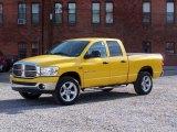 2007 Detonator Yellow Dodge Ram 1500 SLT Quad Cab 4x4 #20072798