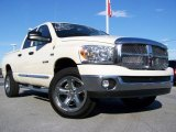 2008 Cool Vanilla White Dodge Ram 1500 Big Horn Edition Quad Cab 4x4 #20128015