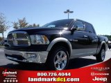 2010 Brilliant Black Crystal Pearl Dodge Ram 1500 Laramie Crew Cab 4x4 #20135482