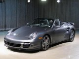 2008 Meteor Grey Metallic Porsche 911 Turbo Cabriolet #20147108