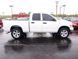 2008 Bright White Dodge Ram 1500 SLT Quad Cab 4x4 #20128424