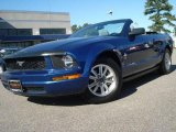 2007 Vista Blue Metallic Ford Mustang V6 Premium Convertible #20128148