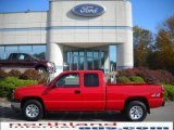 2005 Victory Red Chevrolet Silverado 1500 Extended Cab 4x4 #20227739