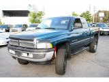 1998 Emerald Green Pearl Dodge Ram 1500 Laramie SLT Extended Cab 4x4 #20246366